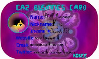 Monica Business Card